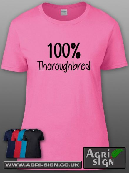 Womens Premium T Shirt - 100% Thoroughbred